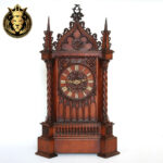 German Antique Style Teak Wood Temple Design Clock
