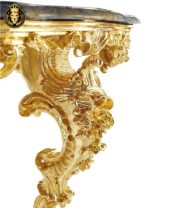 Gold Leaf Gilding Luxury Dining Table
