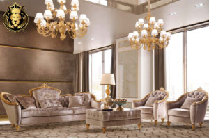 Gold Leaf Gilding Luxury Sofa Set