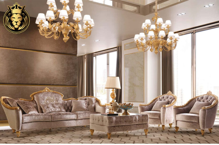Gold Leaf Gilding Luxury Sofa Set