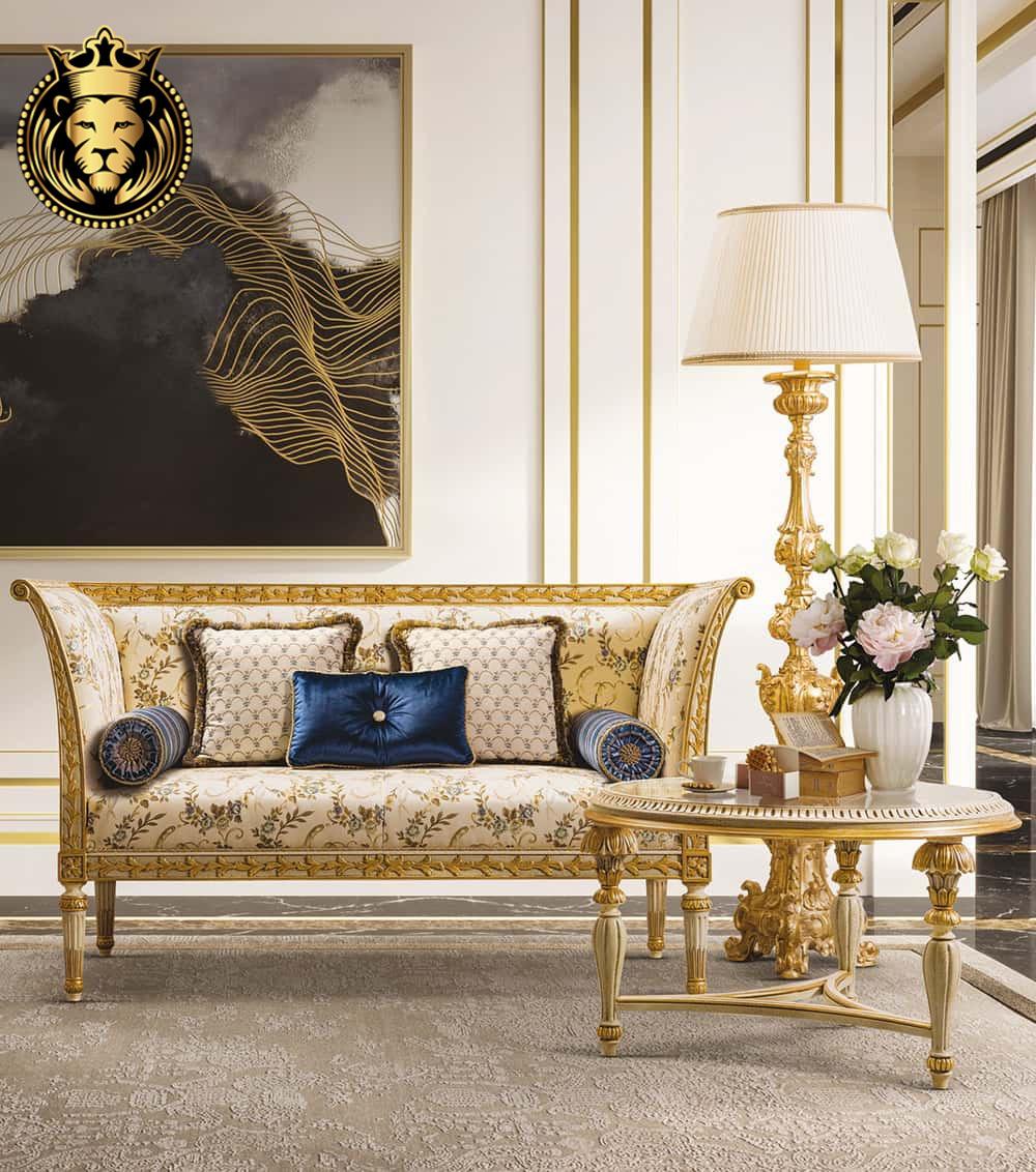 Gorgeous French Style Golden Luxury Majlis Sofas