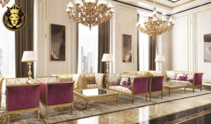 Gorgeous French Style Golden Luxury Majlis Sofas