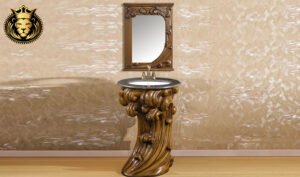 Hand Carved European Style Bathroom Vanity Set