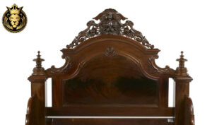 Hand Carved Rococo Style Sheesham Wood Bed