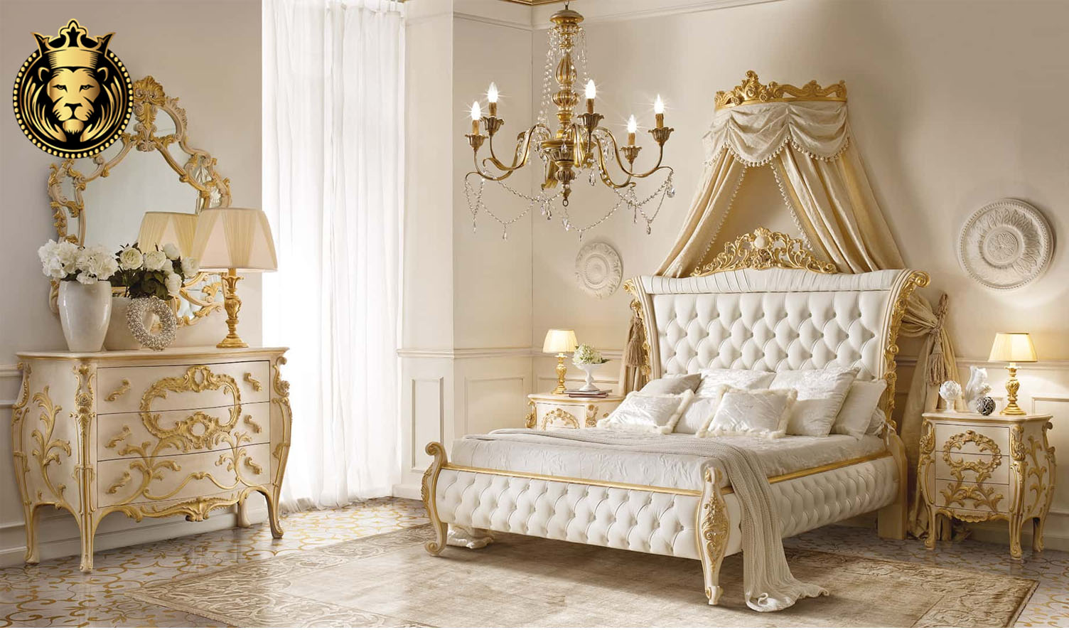 Italian Style Mumbai luxury Villa Bedroom Furniture Set ...