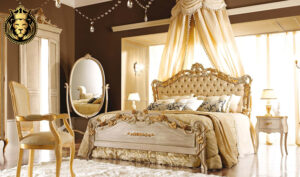 Queen Jhessy Royal White and Gold Bedroom FurnitureQueen Jhessy Royal White and Gold Bedroom Furniture
