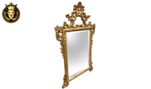 18 th Century Carved Distressed Finish Mirror Frame18 th Century Carved Distressed Finish Mirror Frame