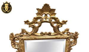 18 th Century Carved Distressed Finish Mirror Frame