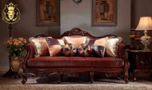 Ahmedabad Maharaja Style Teak Wood Sofa Set