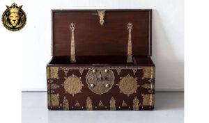 Antique 19th Century Teak Wood Jewelry Organizer