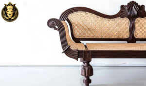 Antique British Colonial Style Carved Sofa