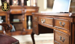 Antique Style Handcrafted Study Room Furniture