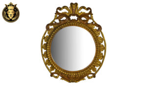 Baroque Style Hand Carved Royal Golden Mirror Frame
