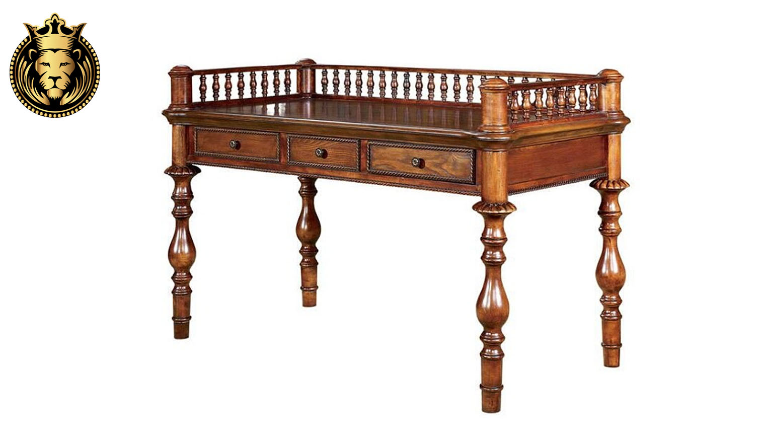 Beautiful Antique Style Lawyer Study Desk