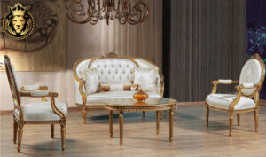 Beautiful French Style Carved Tea Sofa Set