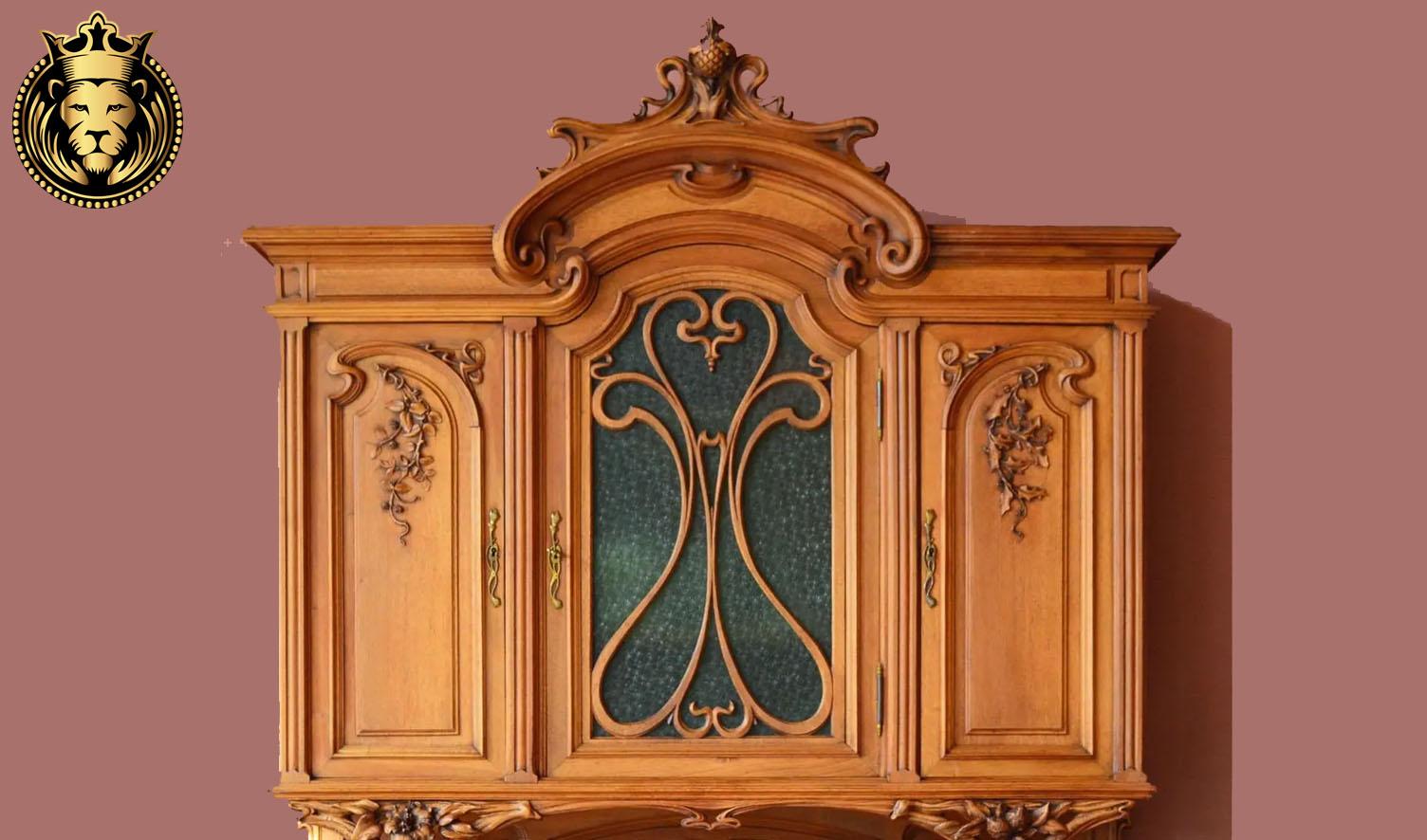 Beautiful French Style Teak Wood Kitchen Sideboard