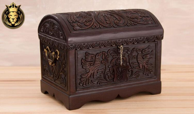 Beautiful Hand Carved Teak Wood Jewelry Box