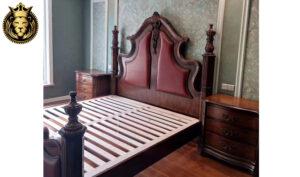 Bhubaneswar Antique Style Carved Teak Wood Bed