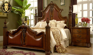 Bhubaneswar Antique Style Carved Teak Wood Bed