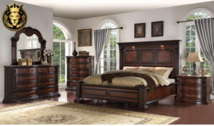 Chandigarh Antique Style Handcrafted Teak Wood Bedroom Furniture