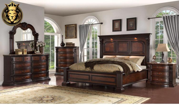 Chandigarh Antique Style Handcrafted Teak Wood Bedroom Furniture