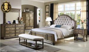 Chennai Antique Style Carved Teak Wood Bedroom Set Designs