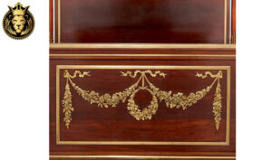 Classical French Style Hand Carved Mahogany Bed
