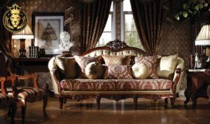Cochin Maharaja Style Hand Carved Sofa Set