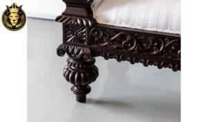 Dark Walnut Finish British Colonial Style Sofas