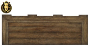 Dark Walnut Finish Teak Wood Sideboard