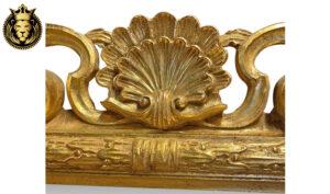 Dehradun Luxury Style Carved Gold Leaf Mirror Frame