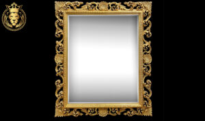 Dehradun Luxury Style Carved Gold Leaf Mirror Frame