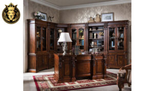 Delhi Classic Style Teak Wood Office Desk and Chair