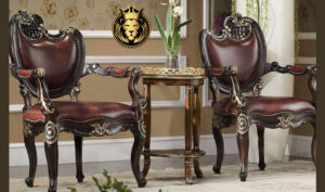 European Style Hand Carved Pair of Chairs