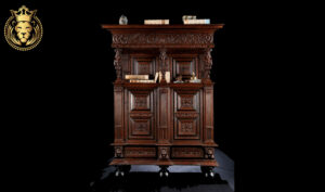 European Style Hand Carved Royal Wardrobe