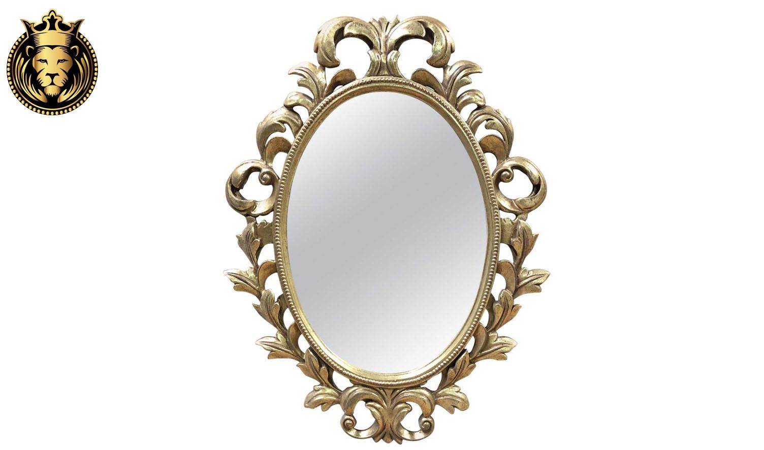 European Style champagne Gold Leaf Mirror Frame