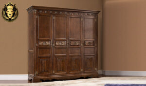 French Style Royal Handcrafted Teak Wood Wardrobe