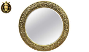 French Style intricate Hand Carving Royal Mirror Frame