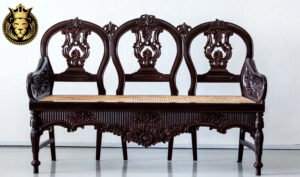 George British Colonial Style Hand Carved Sofa