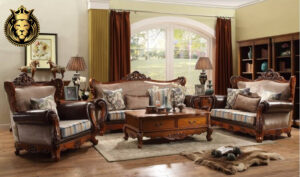 Gurgaon Classic Style Hand Carved Sofa Set