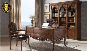 Indian Classic Style Hand Carved Study Room Furniture