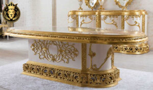 Indian Classic Style Royal Gold Leaf Dining Room FurnitureIndian Classic Style Royal Gold Leaf Dining Room Furniture