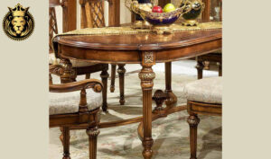 Indian Classical Style Hand Carved Royal Dining Table
