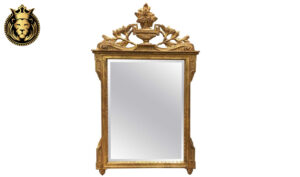 Italian Style Carved Distressed Finish Mirror Frame