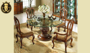 Mangalore Antique Style Hand Carved Dining Table