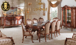 NCR Classic Style Antique Walnut Finish Dining Room Furniture