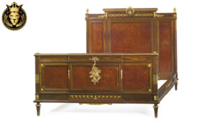 Royal French Style Carved Gold Leaf Gilt Bed
