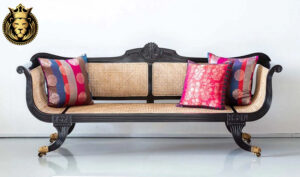 Victoria British Colonial Style Teak Wood Sofa