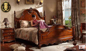 Vijayawada Antique Style Carved Teak Wood Bedroom Furniture