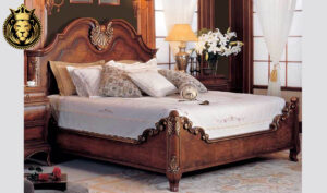 Udaipur Antique French Style Hand Carved Bed 2
